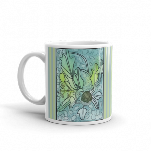 Kukui Plant Mug with Handle on Left