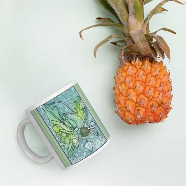 Kukui Plant Mug with Pineapple