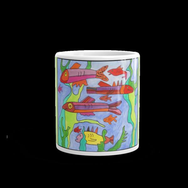 Okemos Fish Mug Front View