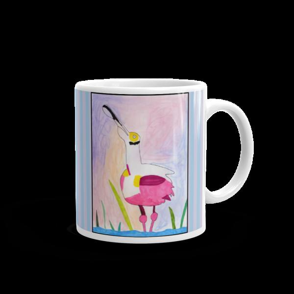 Spoonbill Mug handle on Right