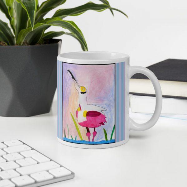 Spoonbill Mug in Office